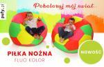 Pufa piłka siedzisko dla dzieci ekoskóra w kolorach FLUO
